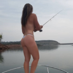 Sexy fishing babe; Sammy Sun Fun